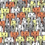 Egy panda bújt el az elefántok között: te rátalálsz?