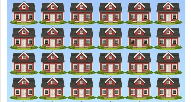 Ha jó a szemed, 20 másodperc alatt kiszúrod, melyik ház a kakukktojás