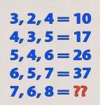 Ha gyors a gondolkodásod, ki tudod találni, milyen szám illik a kérdőjel helyére